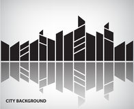 Vector abstract silhouette city background with Stock Image
