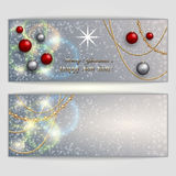 Vector abstract silver Christmas and New Year Royalty Free Stock Photos