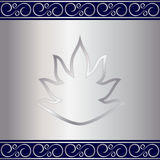 Vector abstract silver plate background with vignettes Royalty Free Stock Images