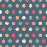 Vector abstract simple polka dot seamless pattern. Royalty Free Stock Photography
