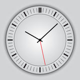 Vector abstract simple round clock Royalty Free Stock Image