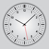 Vector abstract simple round clock Royalty Free Stock Photography