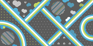 Vector abstract simple shapes line art background Royalty Free Stock Photos