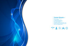 Vector abstract smooth line and shape technology concept background Royalty Free Stock Photo