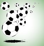 The vector abstract soccer background Stock Photography