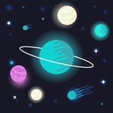 Vector abstract space background Royalty Free Stock Photo