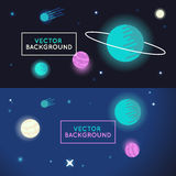 Vector abstract space background Stock Photo