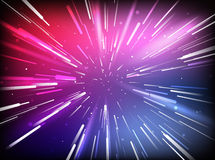 Vector Abstract Space Tunnel Stock Images
