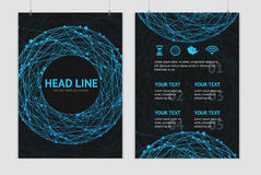 Vector abstract sphere brochure design templates Stock Photography