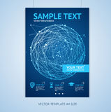 Vector abstract sphere brochure design templates Royalty Free Stock Photography