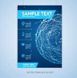 Vector abstract sphere brochure design templates Royalty Free Stock Photos