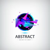 Vector abstract sphere logo with geometric shapes. Stock Photo