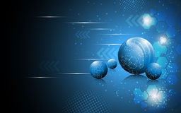 Vector abstract sphere science concept background Stock Photo