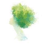 Vector abstract spring woman portrait. Royalty Free Stock Images