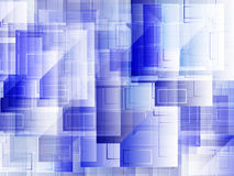 Vector : Abstract square on blue background Royalty Free Stock Photo