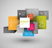 Vector abstract squares and cubes background illustration / infographic template Stock Photos