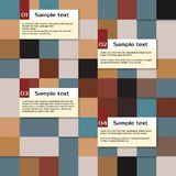 Vector abstract squares, infographic template Stock Photos