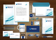 Free Vector Abstract Stationery Editable Corporate Identity Template Stock Photos - 90692283