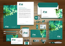 Vector abstract stationery Editable corporate identity. Template design with origami elements. community group network, link concept Document for business, gift Stock Image