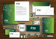Vector abstract stationery Editable corporate identity. Template design with origami elements. community group network, link concept Document for business, gift Stock Photography