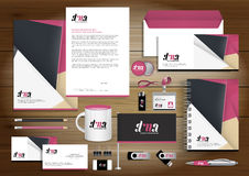 Vector abstract stationery Editable corporate identity template stock illustration
