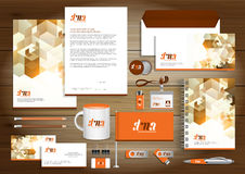Vector abstract stationery Editable corporate identity template Royalty Free Stock Image