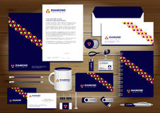 Vector abstract stationery Editable corporate identity template Royalty Free Stock Photo