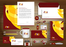 Vector abstract stationery Editable corporate identity template Stock Images