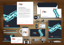 Vector abstract stationery Editable corporate identity template Stock Photography