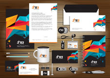 Vector abstract stationery Editable corporate identity template Royalty Free Stock Photography