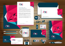 Vector abstract stationery Editable corporate identity template Royalty Free Stock Images
