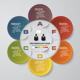 Vector abstract 6 steps infographic elements.Circular or cycle infographics. EPS10 Royalty Free Stock Image
