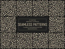 Vector Abstract Stippled Seamless Patterns Stock Images