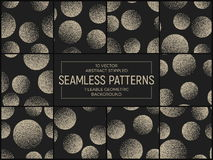 Vector Abstract Stippled Seamless Patterns Royalty Free Stock Photos