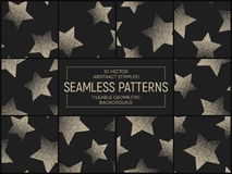 Vector Abstract Stippled Seamless Patterns Royalty Free Stock Image