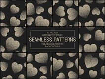Vector Abstract Stippled Seamless Patterns Royalty Free Stock Images