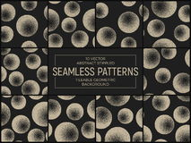 Vector Abstract Stippled Seamless Patterns Royalty Free Stock Photography