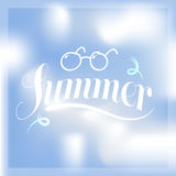 Vector abstract summer background calligraphic design relax concept Stock Image