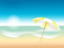 Vector abstract summer poster with beach backgroun Royalty Free Stock Photos