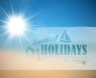 Vector abstract summer poster Royalty Free Stock Photos