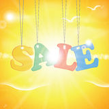 Vector abstract summer sale poster Royalty Free Stock Photo