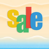 Vector abstract summer sale poster Stock Photos
