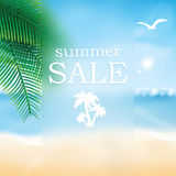 Vector abstract summer sale poster Royalty Free Stock Images