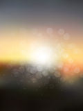 Vector abstract sun holiday blurred background Stock Photography