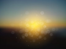 Vector abstract sun holiday blurred background Stock Photo