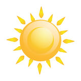 Vector Abstract  Sun Icon Isolated Stock Photo