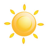 Vector Abstract  Sun Icon Isolated Royalty Free Stock Images