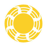 Vector Abstract  Sun Icon Isolated Stock Photography