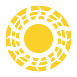 Vector Abstract  Sun Icon Isolated Stock Images