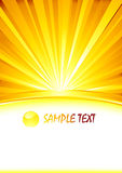Vector abstract sunny banner with glass sphere. Vector illustration Stock Images